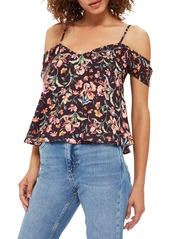 Topshop Iris Print Off-the-Shoulder Camisole