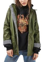 Topshop Ivy Hooded Rain Jacket