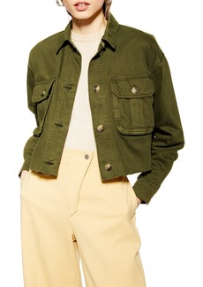 Topshop Jack Raw Hem Shirt Jacket
