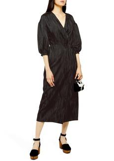 Topshop Jacquard Midi Dress
