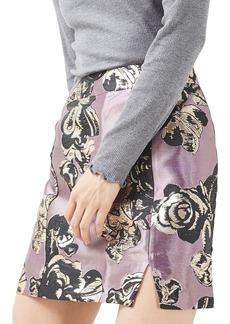 Topshop Jacquard Pelmet Miniskirt (Petite)