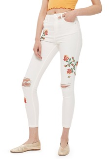 Topshop Jamie Embroidered Skinny Jeans (Regular & Petite)