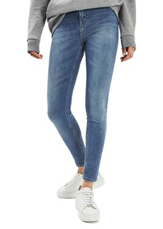 Topshop Jamie High Waist Crop Skinny Jeans (Blue Green)