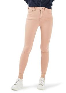 Topshop Jamie Raw Hem Skinny Jeans (Dusky Pink)