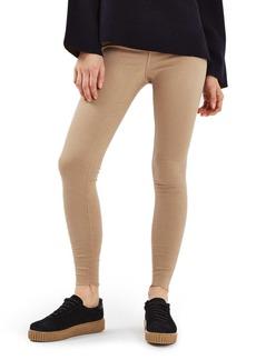 Topshop Jamie Raw Hem Skinny Jeans (Tan)
