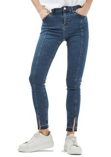 Topshop Jamie Split Released Hem Skinny Jeans (Regular & Petite)