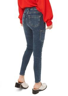 Topshop Jamie Utility High Rise Skinny Jeans