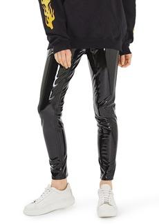 Topshop Jamie Vinyl Skinny Jeans