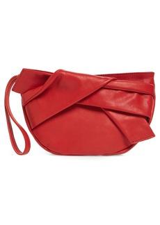 Topshop Jasmine Leather Clutch