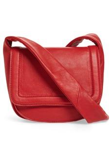 Topshop Jasmine Leather Saddle Bag