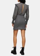 Topshop Jersey 9-9 Long Sleeve Minidress