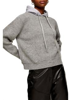 Topshop Jersey Knit Hoddie