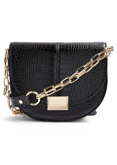 Topshop Jess Moon Faux Leather Crossbody Bag