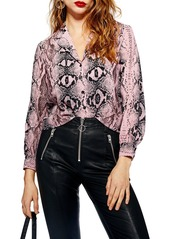 Topshop topshop jessica snake print shirt abvfa79adfe a