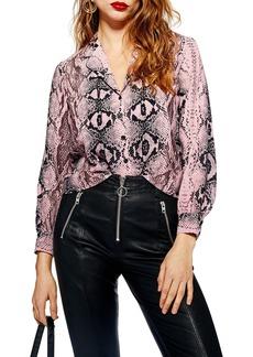 Topshop Jessica Print Shirt (Regular & Petite)