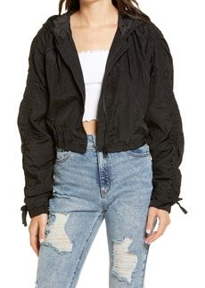 Topshop Joan Nylon Crop Jacket (Petite)