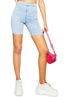 Topshop Joni Acid Cycle Denim Shorts (Bleach)