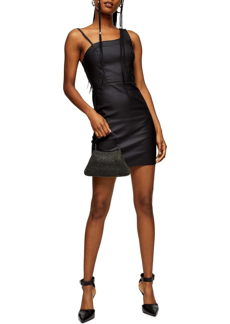 Topshop Joni Asymmetrical Body-Con Minidress