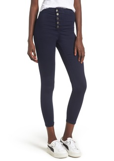 Topshop Joni Button Front Skinny Jeans