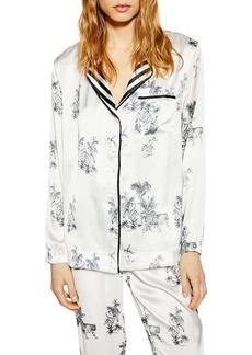 Topshop Jungle Pajama Top