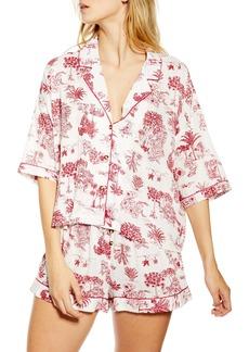 Topshop Jungle Print Short Pajamas