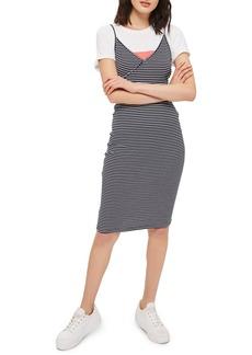 Topshop Kaia Stripe Tank Dress