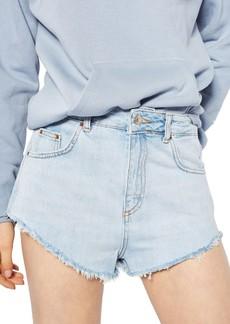 Topshop Kiri Cutoff Denim Shorts