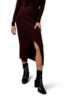 Topshop Knit Midi Skirt