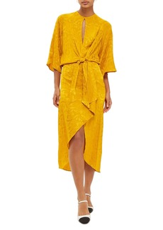 Topshop Knot Front Midi Dress