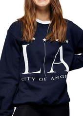 Topshop LA Print Sweatshirt