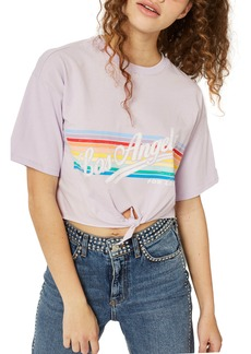 Topshop LA Rainbow Stripe T-Shirt