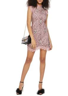 Topshop Lace A-Line Dress