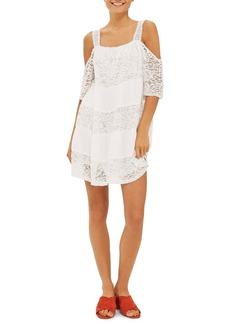 Topshop Lace Off the Shoulder Babydoll Dress