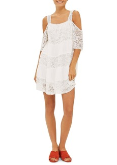 Topshop Lace Off the Shoulder Babydoll Dress