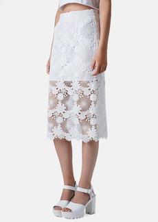 Topshop Lace Pencil Skirt