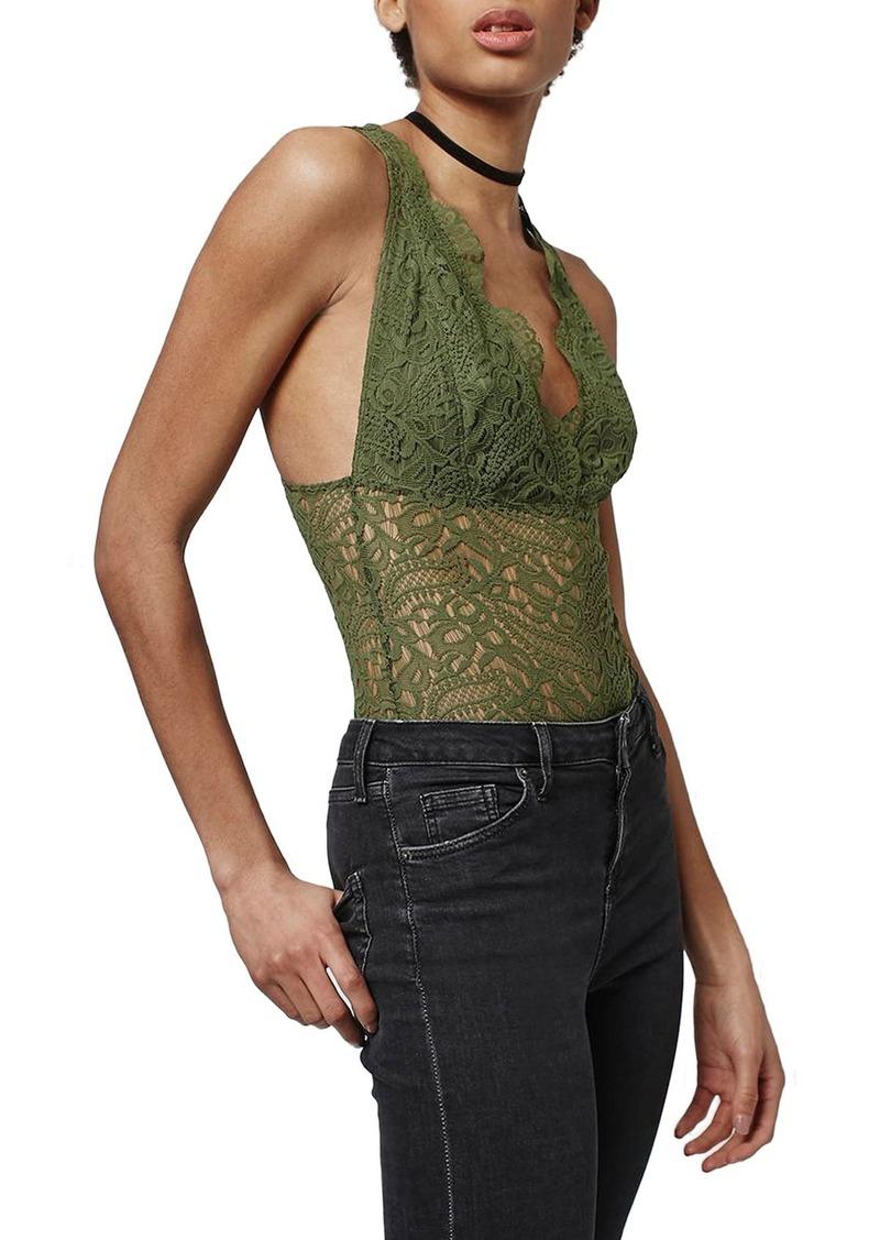 Topshop Lace Plunge Bodysuit (Regular & Petite)