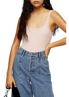 Topshop Lace Trim Bodysuit