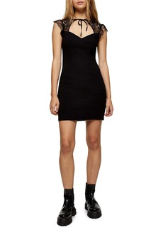 Topshop Lace Trim Minidress