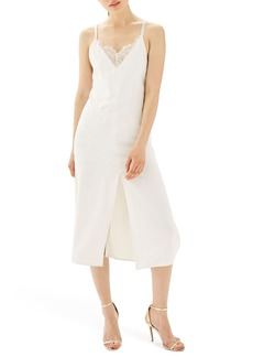 Topshop Lace Trim Slipdress