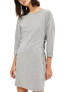 Topshop Lace-Up Side Tunic Dress