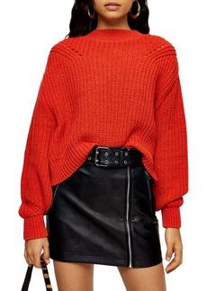 Topshop Ladder Stitch Crop Sweater