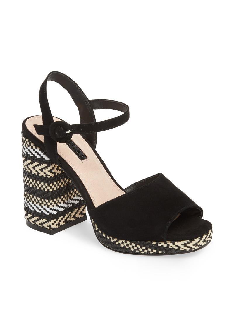 5fc7356bfc0 On Sale today! Topshop Topshop Laura Woven Block Heel Sandal (Women)