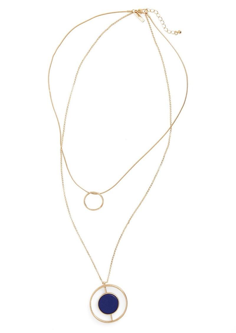 Topshop Layered Circle Pendant Necklace