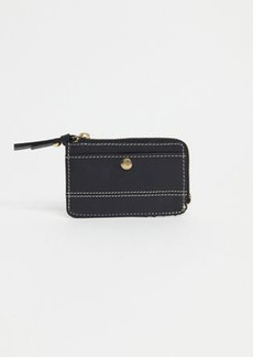 Topshop leather mini purse in black