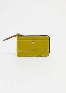 Topshop leather mini purse in olive