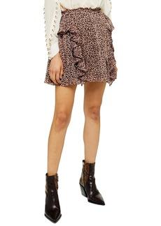 Topshop Leo Ruffle Miniskirt