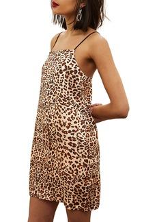 Topshop Leopard Mini Slipdress