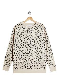 Topshop Leopard Print Sweatshirt