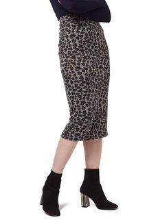 Topshop Leopard Print Tube Skirt
