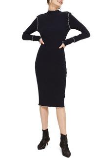Topshop Lettuce Trim Body-Con Midi Dress